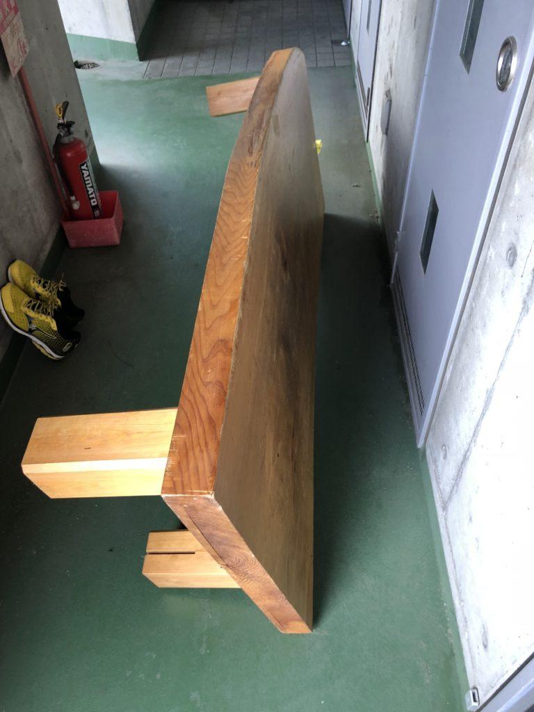 一枚板ローテーブル DIY