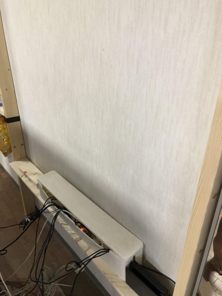 壁掛けテレビ DIY