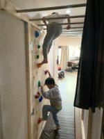 [賃貸でもDIY]廊下にボルダリングのウォール(壁)とうんていをDIY!雨の日でも自宅で運動できます。