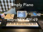 ピアノ教室はもういらない?Simply pianoアプリとmicroKEY Airで子供たちもピアノを楽しみながら練習できます
